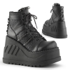 STOMP-12 Black Vegan Leather